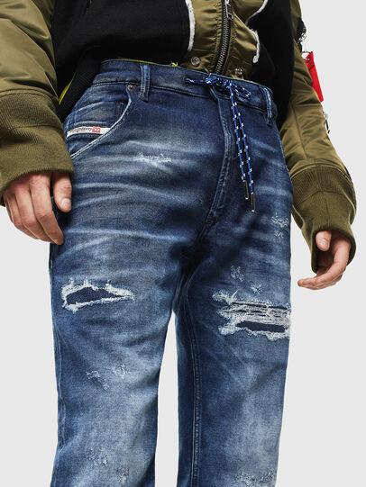 Diesel - Krooley JoggJeans 0097N, Dark Blue - Jeans - Image 3