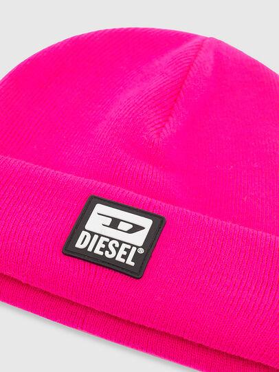 Diesel - K-XAU, Pink Fluo - Knit caps - Image 3