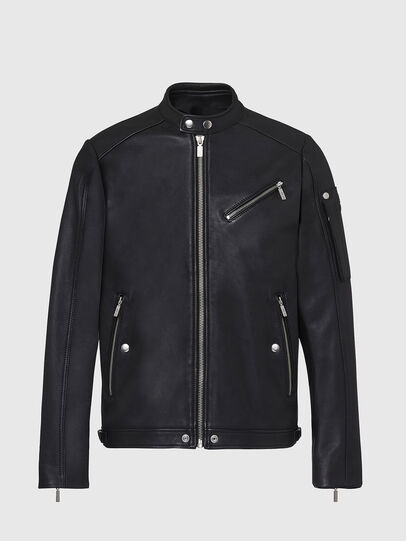 Diesel - L-CASE-KA, Black - Leather jackets - Image 1