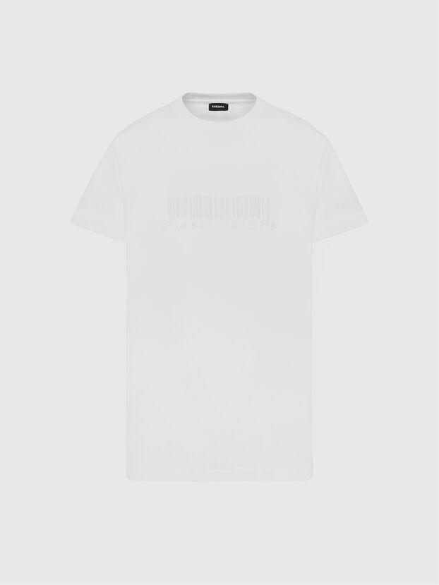 T-JUST-SLITS-X87, White - T-Shirts