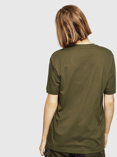 Diesel - T-JUST-DIVISION-D-FL, Military Green - T-Shirts - Image 2