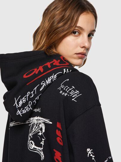 Diesel - F-EXA-HOOD, Black - Sweaters - Image 3