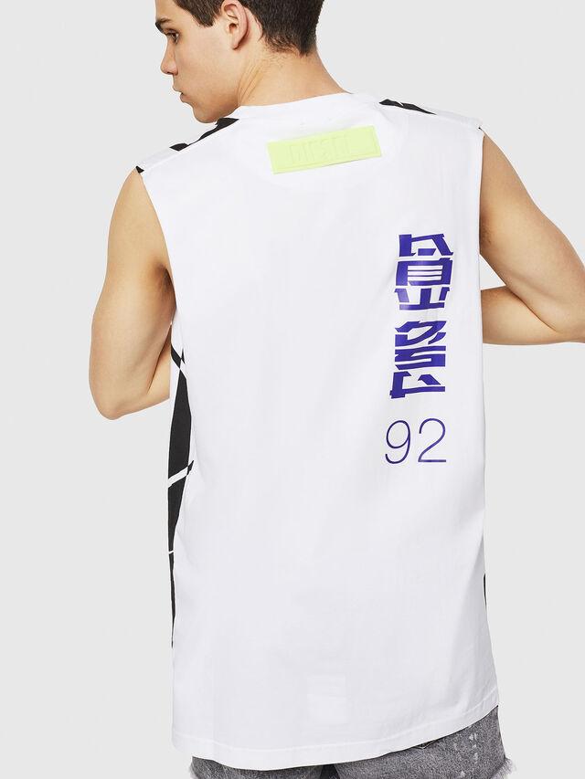 Diesel - T-LUCAS-SL-Y1, White/Black - T-Shirts - Image 2