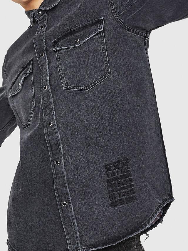 Diesel - D-ROOKE-L, Black/Grey - Denim Shirts - Image 4