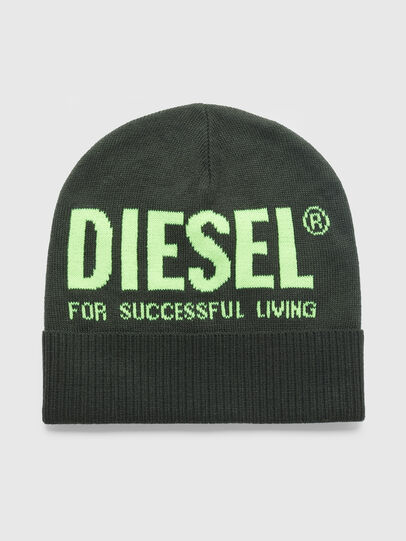 Diesel - K-BECKY-C, Military Green - Knit caps - Image 1