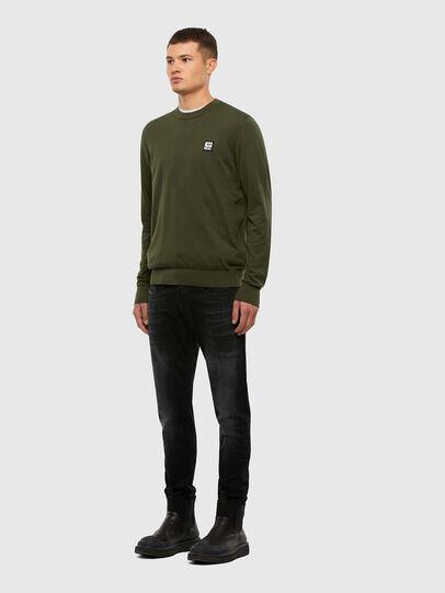 Diesel - K-FREEX-B, Military Green - Knitwear - Image 4