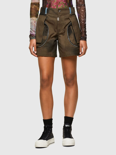 Diesel - S-JANE, Military Green - Shorts - Image 1
