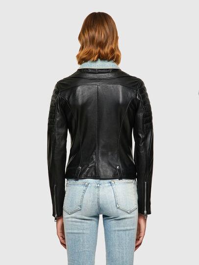 Diesel - L-AURO, Black - Leather jackets - Image 2