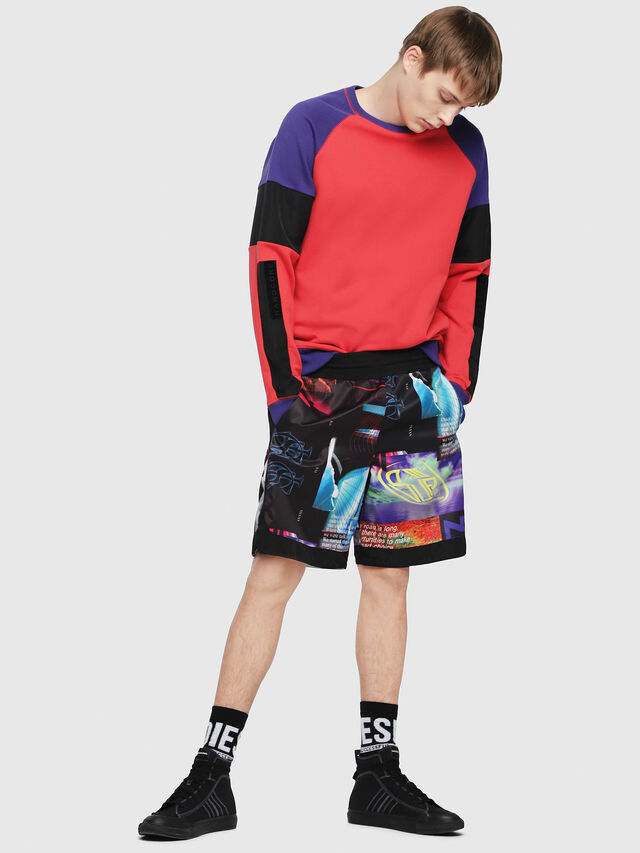 Diesel - S-GIM-BLOCK, Red/Black - Sweaters - Image 4