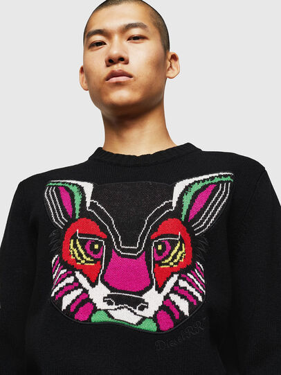 Diesel - K-CV-PATCH, Black - Knitwear - Image 5