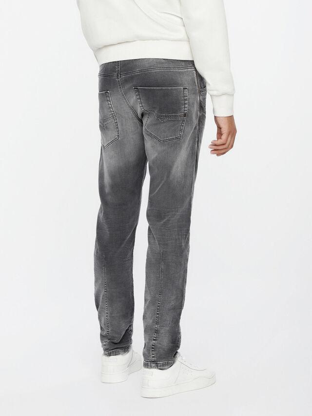 Diesel Krooley JoggJeans 0855B, Light Grey - Jeans - Image 2