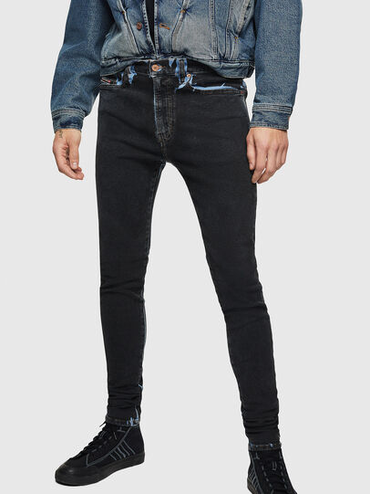 Diesel - D-Istort 0094B, Dark Blue - Jeans - Image 1