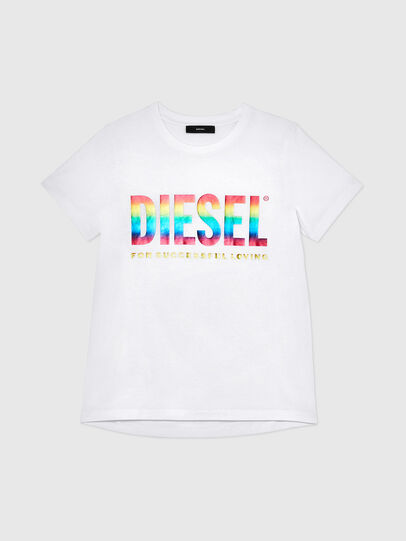 Diesel - BFOWT-SILY-P, White - T-Shirts - Image 1