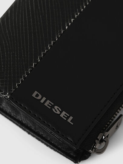 Diesel - L-12 ZIP, Black/White - Zip-Round Wallets - Image 4