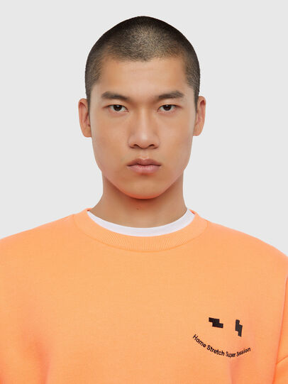 Diesel - S-MART-FLU, Orange - Sweaters - Image 3