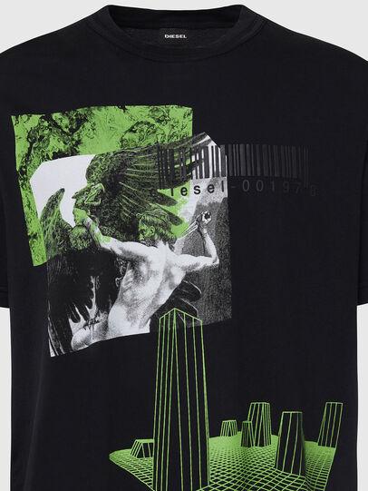 Diesel - T-JUBIND-SLITS, Black - T-Shirts - Image 3