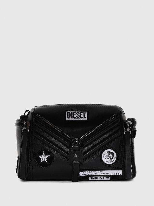 Diesel - LE-ZIPPER CROSSBODY, Black - Crossbody Bags - Image 1
