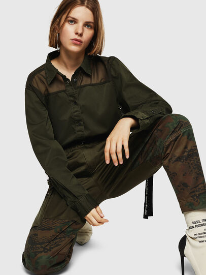 Diesel - P-THENA-A, Green Camouflage - Pants - Image 3