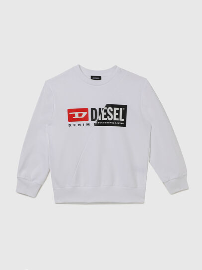 Diesel - SGIRKCUTY OVER, White - Sweaters - Image 1