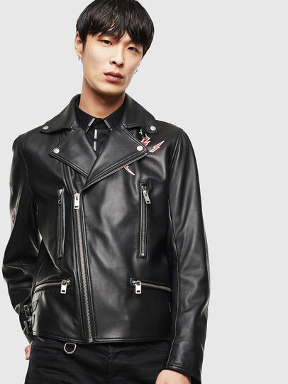 Diesel - CL-L-GOTIV-LITM, Black - Leather jackets - Image 1