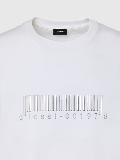 Diesel - T-JUST-SLITS-X85, White - T-Shirts - Image 3