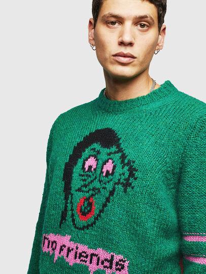 Diesel - K-BOBBY, Dark Green - Knitwear - Image 3