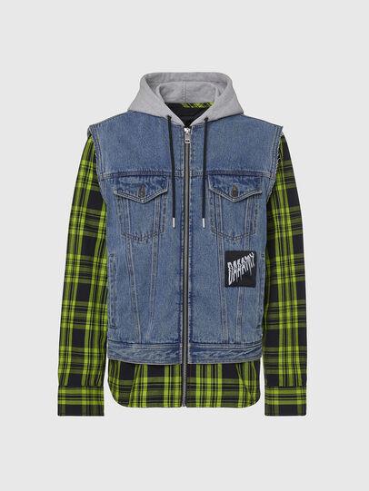 Diesel - J-RUBEN, Green/Black - Jackets - Image 1