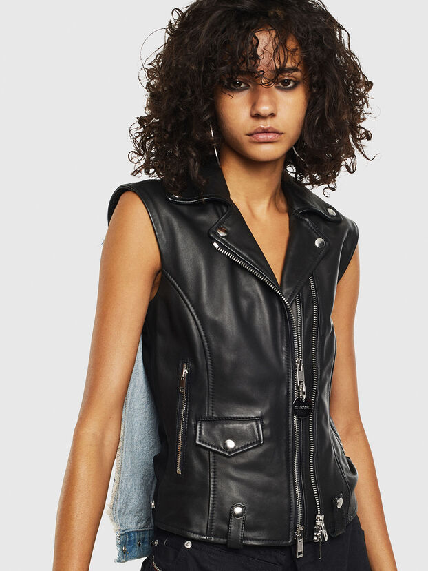 L-WELLS, Black Leather - Leather jackets