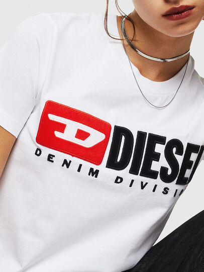 Diesel - T-SILY-DIVISION, White - T-Shirts - Image 3
