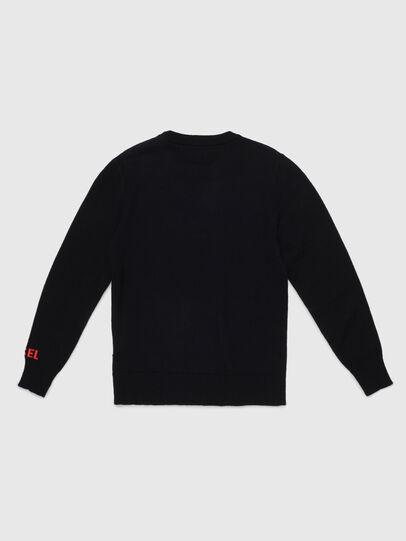 Diesel - KTAPEX, Black/Red - Knitwear - Image 2