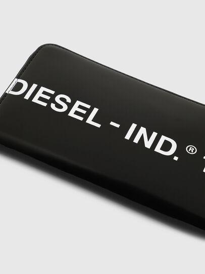 Diesel - 24 ZIP, Black - Zip-Round Wallets - Image 5