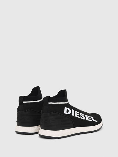 Diesel - SLIP ON 03 LOW SOCK, Black - Footwear - Image 3