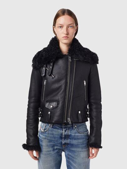 Diesel - L-MARGOT, Black - Leather jackets - Image 1