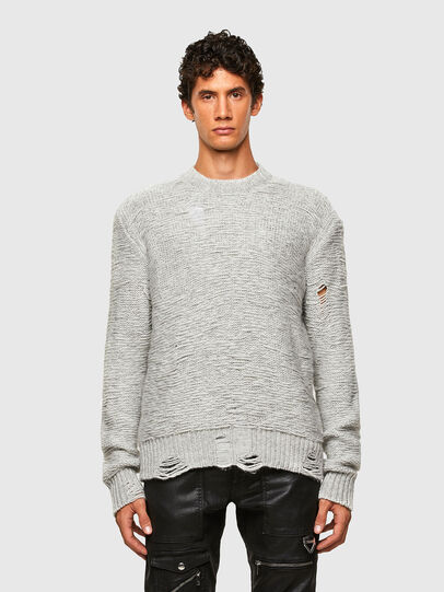 Diesel - K-JOSH, Light Grey - Knitwear - Image 1