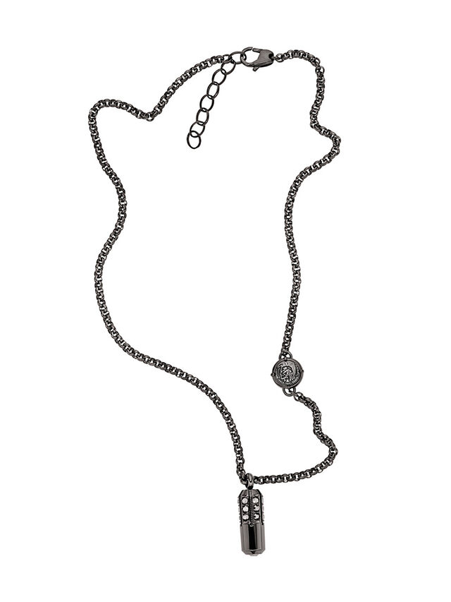 Diesel NECKLACE DX1026, Dark Grey - Necklaces - Image 1