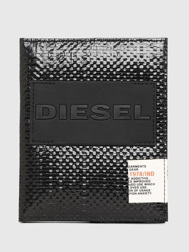 Diesel - PASSPORT, Black/Yellow - Continental Wallets - Image 1