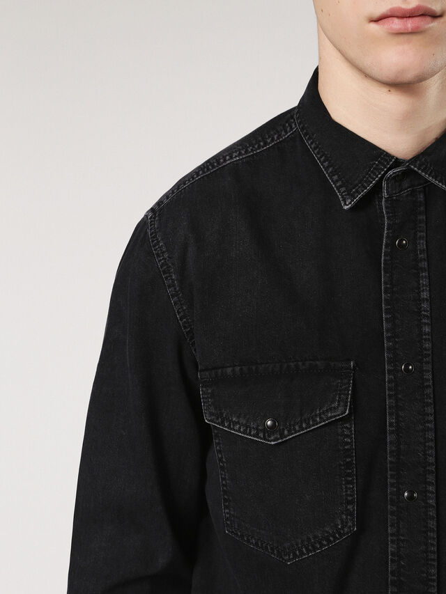 Diesel - D-ROOKE, Black Jeans - Denim Shirts - Image 5
