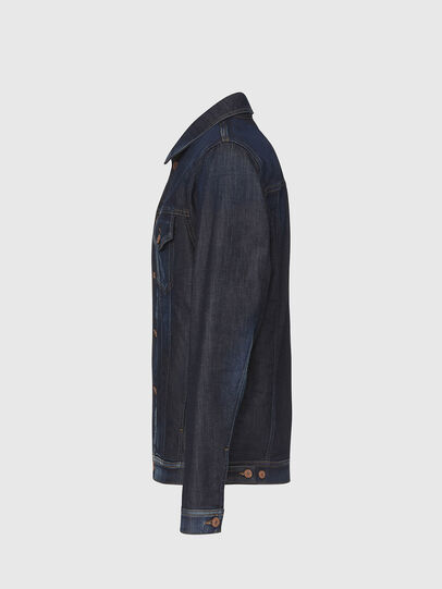Diesel - NHILL-TW, Dark Blue - Denim Jackets - Image 3