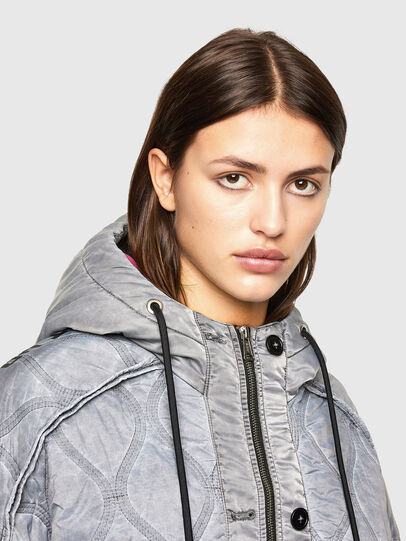Diesel - W-DAYA, Grey - Winter Jackets - Image 3