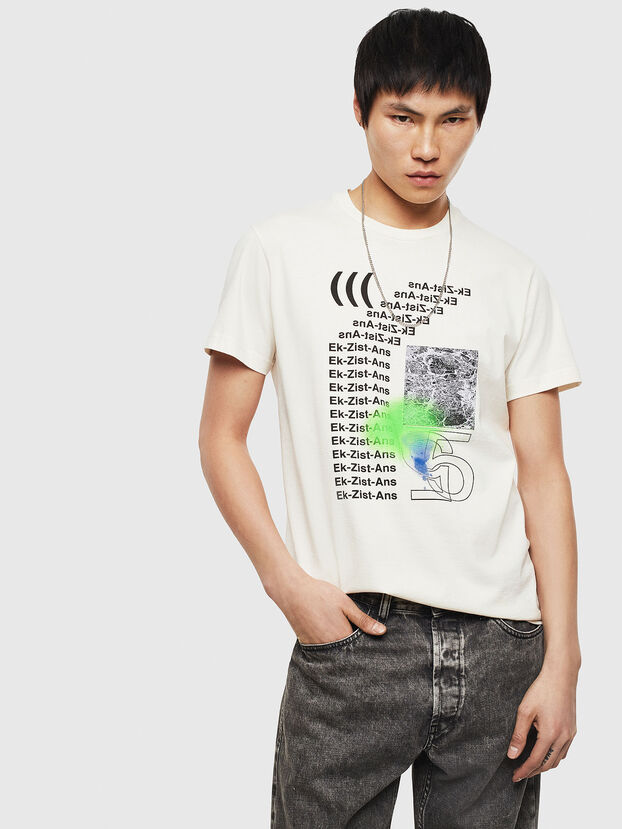 T-DIEGO-S11, White - T-Shirts