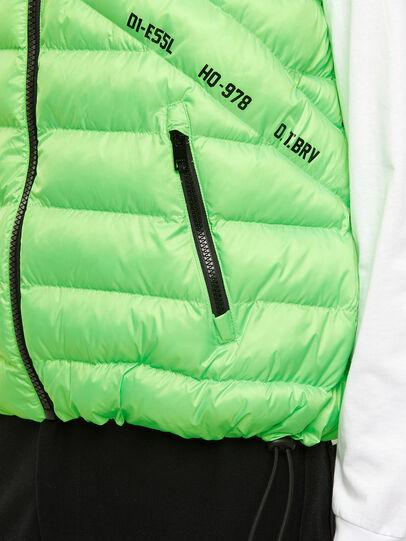 Diesel - W-DWAIN-SL, Green Fluo - Winter Jackets - Image 3