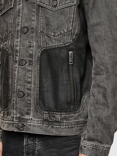 Diesel - NHILL-ROD-SP, Black - Denim Jackets - Image 5