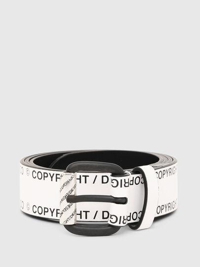 Diesel - B-FULCOPY, White/Black - Belts - Image 1