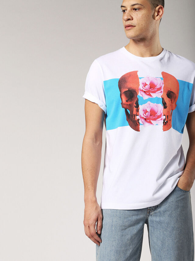 Diesel - T-JUST-SW, White - T-Shirts - Image 3