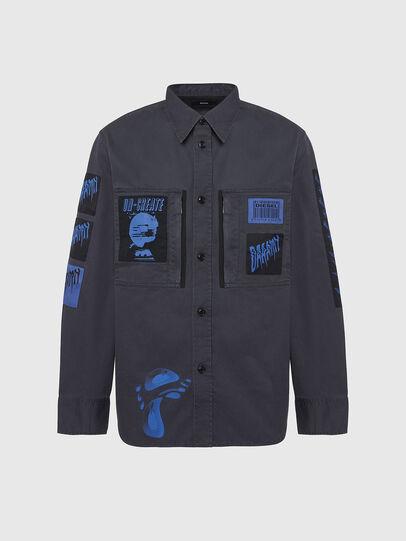 Diesel - S-MARCUS, Dark grey - Shirts - Image 1