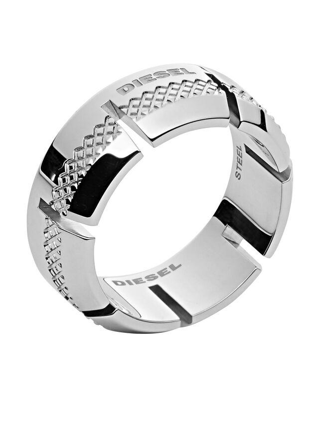 Diesel - RING DX1028, Silver - Rings - Image 1