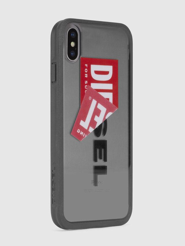 Diesel STICKER IPHONE X CASE, Black - Cases - Image 4
