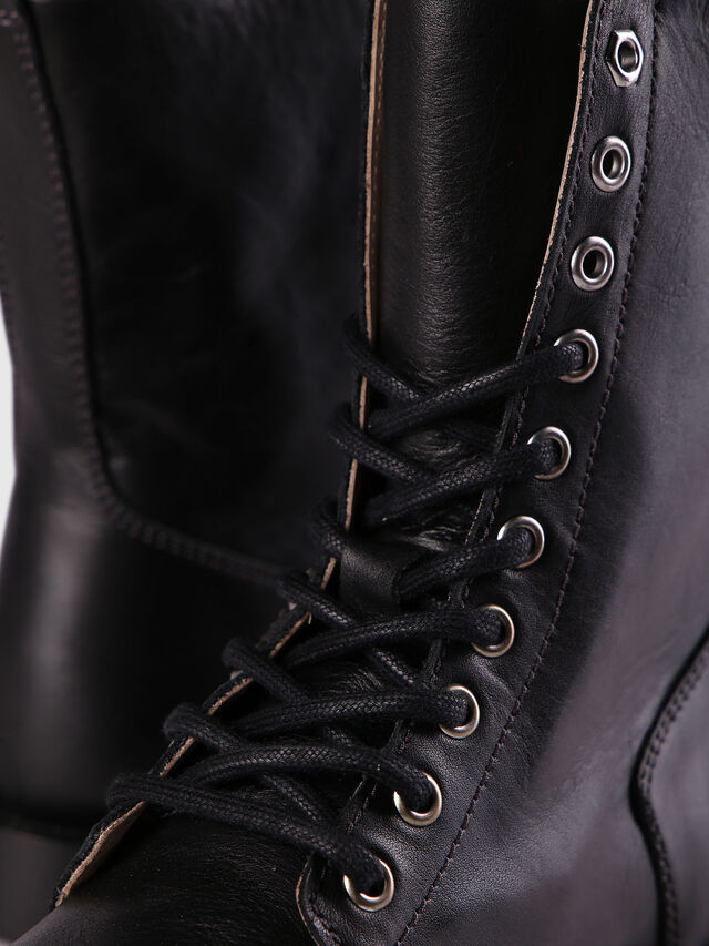 Diesel D-KOMB BOOT CB, Black Leather - Ankle Boots - Image 4