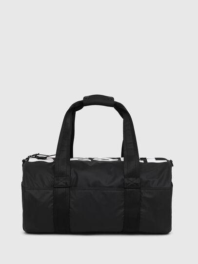 Diesel - F-BOLD DUFFLE, Black/White - Travel Bags - Image 1