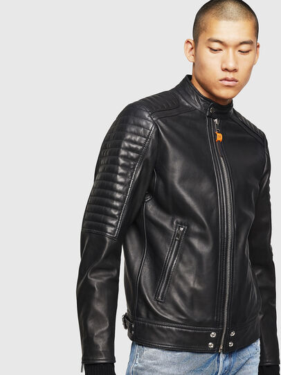 Diesel - L-SHIRO, Black Leather - Leather jackets - Image 8